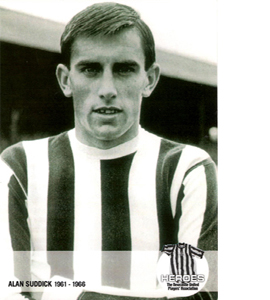 Alan Suddick Newcastle United Heroes (Postcard)