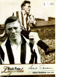 Albert Stubbins Newcastle United Legends (Postcard)