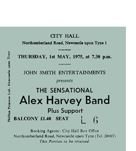 Alex Harvey Band City Hall Ticket (Coaster)