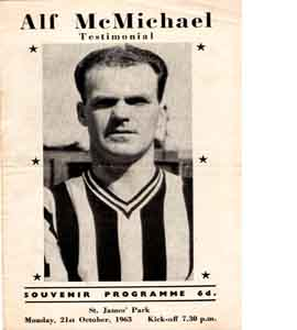 Alf McMichael Newcastle United Testimonial (Programme)
