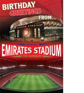 Arsenal Emirates Stadium Pop Up Greeting Card