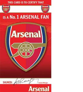 Arsenal FC Certificate Birthday Greeting Card