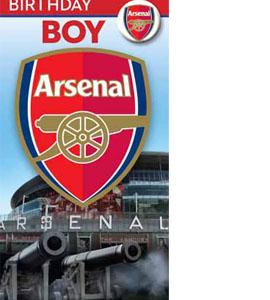 Arsenal FC Happy Birthday Boy Greeting Card
