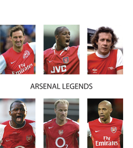 Arsenal Legends (Greetings Card)