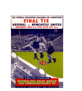 Arsenal V Newcastle United 1952 FA Cup Final (Greetings Card)