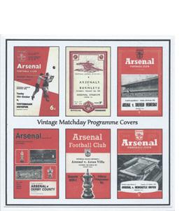 Arsenal Vintage Programme (Greeting Card)