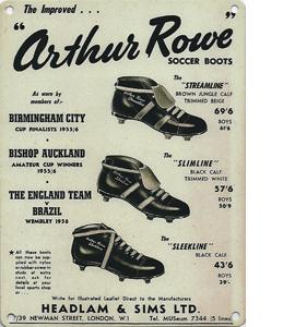 Arthur Rowe Advert Bishop Auckland (Metal Sign)