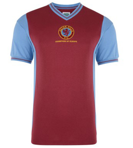 Aston Villa 1982 Official Retro Champions of Europe Home Shirt