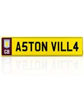 Aston Villa F.C Number Plate Sign