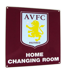 Aton Villa F.C. Home Changing Room Sign