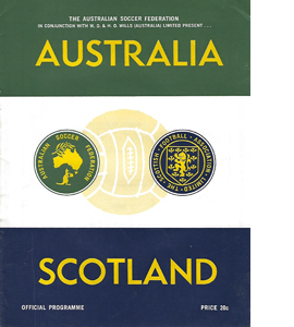 Austrailia v Scotland 1967 International Match (Programme)