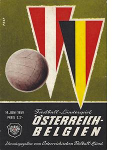 Austria v Belgium 1959 International Match (Programme)
