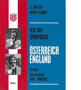 Austria v England 1979 International Match (Programme)