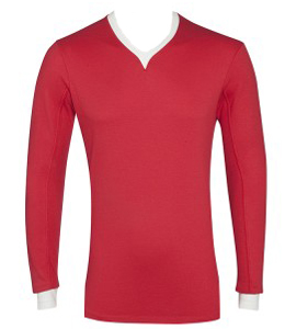 Azteca Jersey Red & Old White Long Sleeve