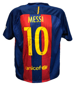 Barcelona 2016/17 Home Shirt Signed by Lionel Messi (Signed)