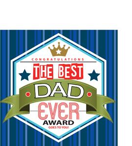 Best Dad Ever Award  (Greetings Card)