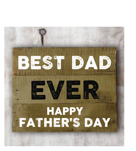 Best Dad Ever, Happy Fathers Day (Greetings Card)