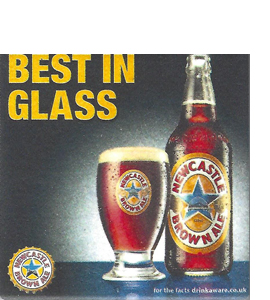 Best In Glass N.B.A. Vintage Beer Mat (Ceramic Coaster)