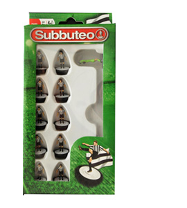 Black & White Stripes Subbuteo Team