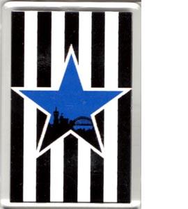 Blue Star Black & White Newcastle (Fridge Magnet)