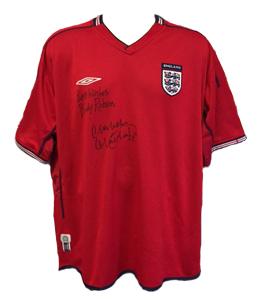 Bobby Robson & Malcolm MacDonald England Shirt (Signed)