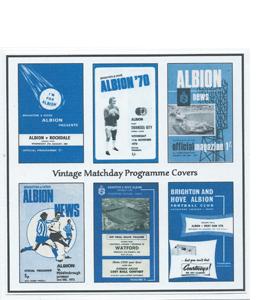 Brighton & Hove Albion Vintage Programme (Greeting Card)