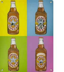 Brown Ale Bottles (Metal Sign)