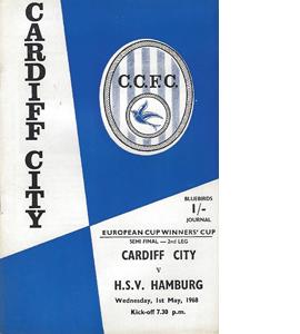 Cardiff City v HSV Hamburg 1967/68 ECWC (Programme)