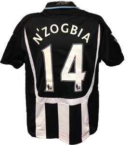 Charles N'Zogbia Newcastle United Shirt 2008/09 (Match-Worn)
