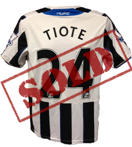 Cheicke Tiote Newcastle United Home Shirt 2013/14 (Match-Worn)