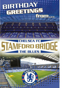 Chelsea Stamford Bridge Stadium Pop Up Greeting Card