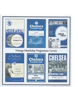 Chelsea Vintage Programme (Greeting Card)