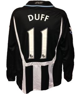 Damian Duff Newcastle United Shirt 2007/08 (Match-Worn)