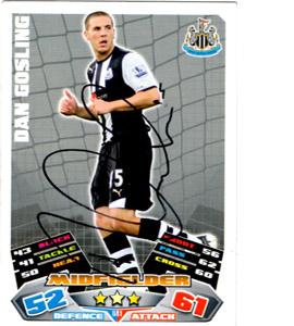 Dan Gosling Newcastle United Match Attax Trade Card (Signed)