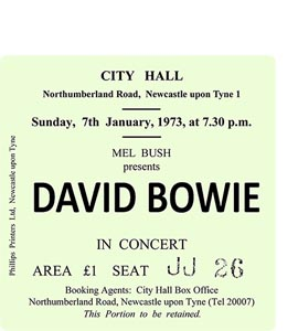David Bowie City Hall Ticket (Coaster)