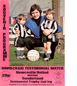 David Craig Newcastle v Sunderland Testimonial Match (Programme)