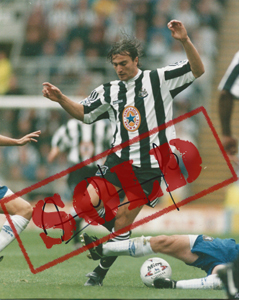 David Ginola Newcastle Photo (Signed)