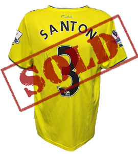 Davide Santon Newcastle United Away Shirt 2013/14 (Match-Worn)