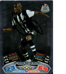 Demba Ba Newcastle United Match Attax Trade Card (Signed)