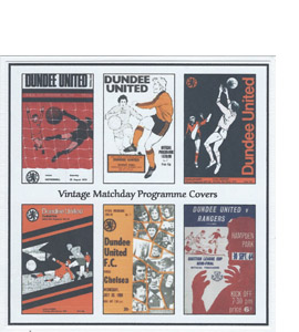 Dundee United Vintage Programme (Greeting Card)