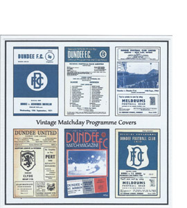 Dundee Vintage Programme (Greeting Card)