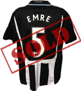 Emre Newcastle United Shirt 2007/08 (Match-Worn)