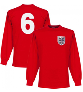 England 1966 World Cup No 6 Official Retro Away Shirt