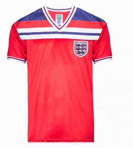 England 1982 World Cup Finals Away Retro Shirt OUT OF STOCK