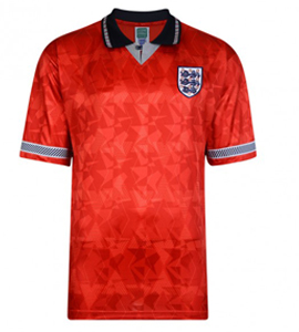 England 1990 World Cup Official Retro Away Shirt