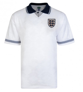England 1990 World Cup Official Retro Home Shirt