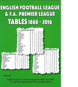 English Football League and F. A. Premier League Tables 1888-201