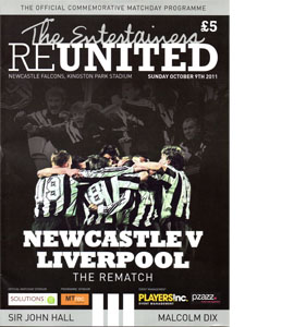 Entertainers Reunited: Newcastle United v Liverpool Programme
