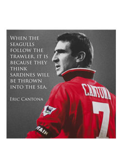 Eric Cantona - Seagulls Follow the Trawler (Greetings Card)