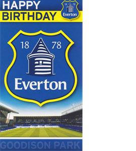 Everton Crest Birthday Card